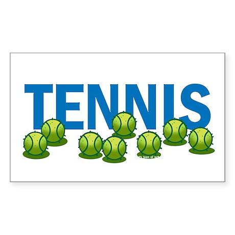 Tennis (f) Sticker (Rectangle)