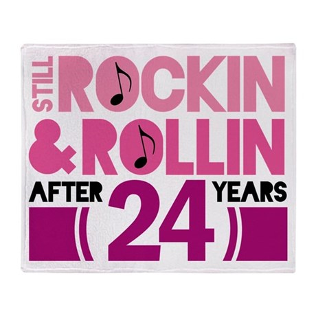 24th Anniversary Funny Gift Throw Blanket