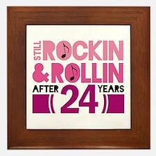 24th Anniversary Funny Gift Framed Tile