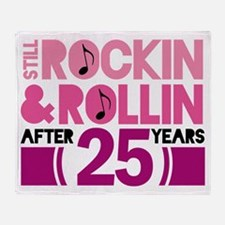 25th Anniversary Funny Gift Throw Blanket