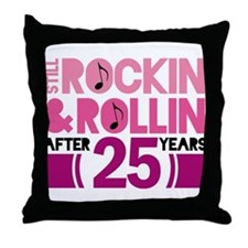 25th Anniversary Funny Gift Throw Pillow