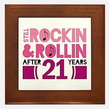 21st Anniversary Funny Gift Framed Tile