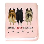 Nothin' Butt Belgians baby blanket