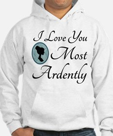 Austen Quote Love You Ardently Hoodie