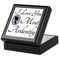 Austen Quote Love You Ardently Keepsake Box