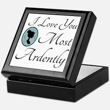 Austen Quote Love You Ardently Keepsake Box