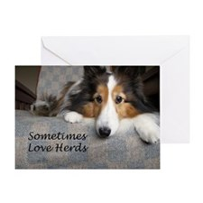 Sometimes Love Herds Greeting Card
