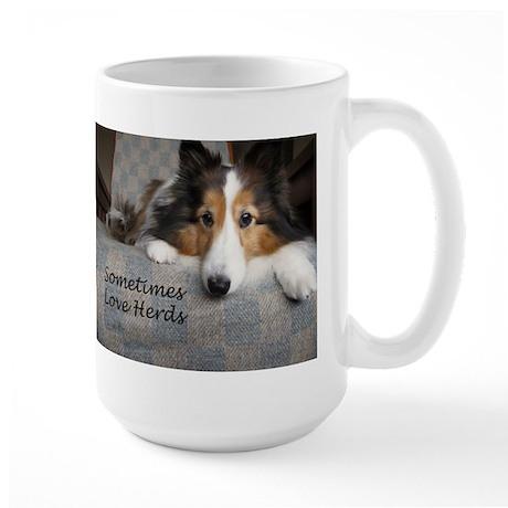 Sometimes Love Herds Large Mug