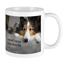 Sometimes Love Herds Small Mugs