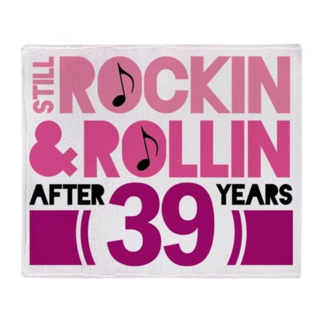 39th Anniversary Funny Gift Throw Blanket