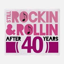 40th Anniversary Funny Gift Throw Blanket