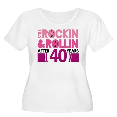 40th Anniversary Funny Gift Women's Plus Size Scoo