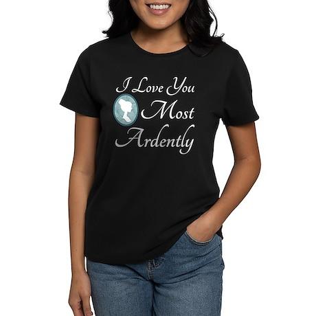 Austen Quote Love You Ardently Women's Dark T-Shir