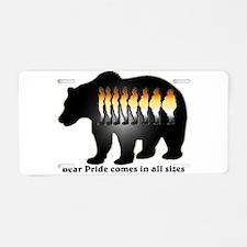 Bear Pride comes in all sizes Aluminum License Pla