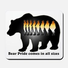 Bear Pride comes in all sizes Mousepad