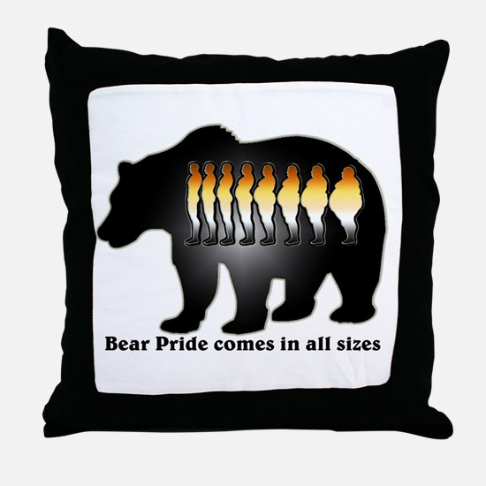 Bear Pride comes in all sizes Throw Pillow