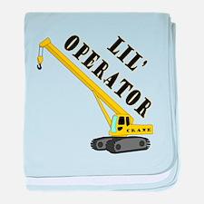 Lil' Crane Operator baby blanket