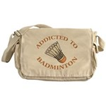 Addicted To Badminton Messenger Bag