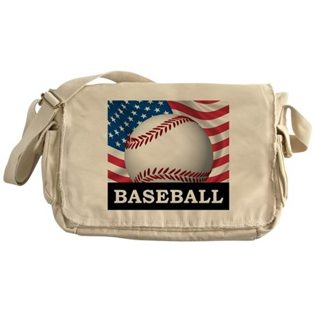 American Baseball Messenger Bag