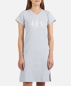 Baseball Evolution Women's Nightshirt