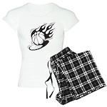Flaming Basketball Women's Light Pajamas
