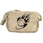 Flaming Basketball Messenger Bag
