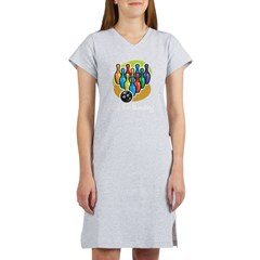 B is for Bowling Women's Nightshirt