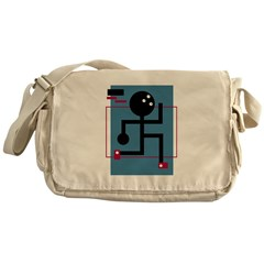 Stick Figure Bowler Messenger Bag