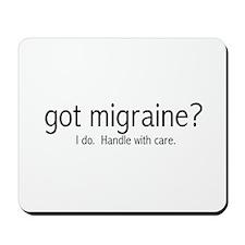 """""""got migraine?"""" Mousepad"""