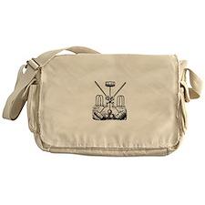 Hand Sketched Croquet Messenger Bag