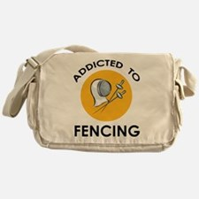 Addicted To Fencing Messenger Bag