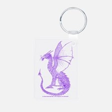 Purple Watcher Dragon Keychains