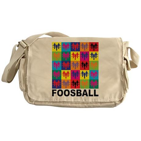 Pop Art Foosball Messenger Bag