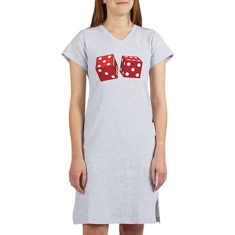 Retro Red Dice Women's Nightshirt