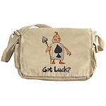 Ace Of Spade (Got Luck?) Messenger Bag