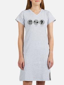 Eat Sleep Hockey Women's Nightshirt