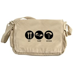 Eat Sleep Skydive Messenger Bag
