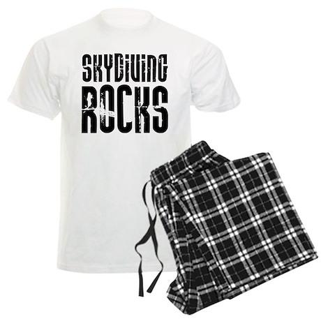 Skydiving Rocks Men's Light Pajamas