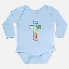 Names of Jesus Cross Long Sleeve Infant Bodysuit