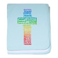 Names of Jesus Cross baby blanket