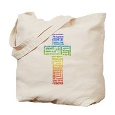 Names of Jesus Cross Tote Bag
