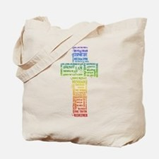 Names of Jesus Cross Tote Bag
