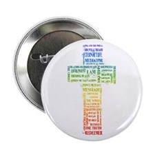 """Names of Jesus Cross 2.25"""" Button (10 pack)"""