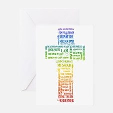 Names of Jesus Cross Greeting Card