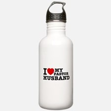 I love my Pastor Husband Water Bottle