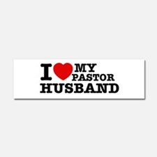 I love my Pastor Husband Car Magnet 10 x 3