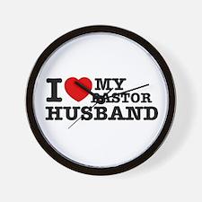I love my Pastor Husband Wall Clock