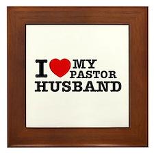 I love my Pastor Husband Framed Tile