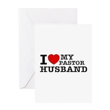 I love my Pastor Husband Greeting Card