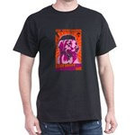 PEACE dog Golden Drop Bones Black T-Shirt